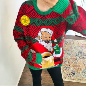 NWT Christmas sweater beer holder